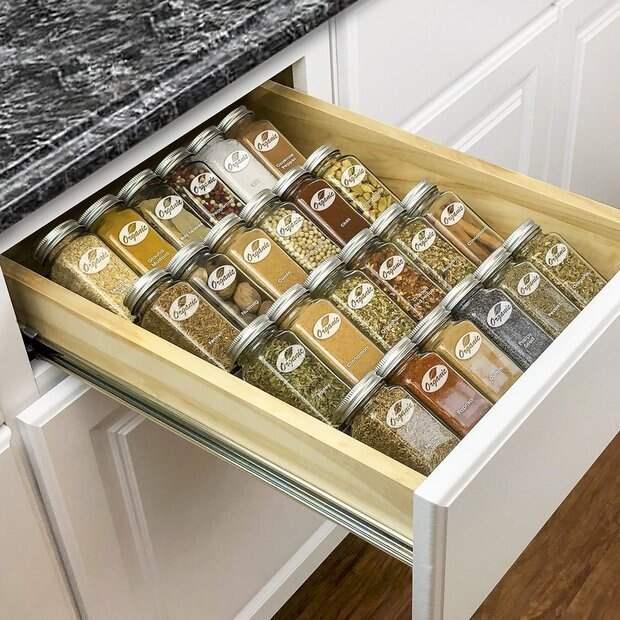 Практичные и очень красивые идеи хранения специй на кухне