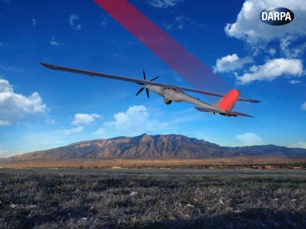 Компьютерная модель беспилотника Silent Falcon. flightglobal.com - Лазеры зарядят беспилотники   Warspot.ru