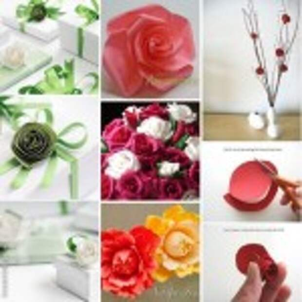 Как сделать розу из бумаги (подборка)