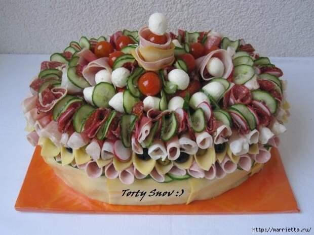 Соленый закусочный торт. Идеи оформления к ПАСХЕ (40) (640x480, 152Kb)