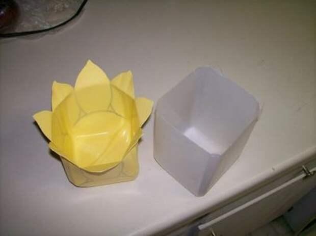 Пластиковые заготовки для кашпо-цветка