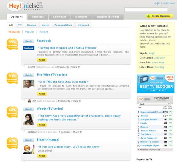 Hey! Nielsen – социальная сеть для фанатов попкультуры