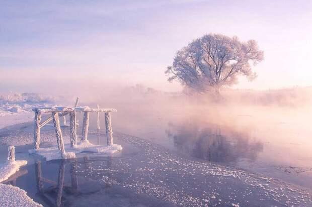 Сказочная красота Беларуси зимой в фотографиях Алексея Угальникова