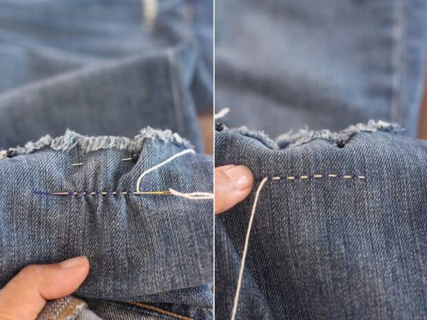 Сашико-ремонт джинсов (Diy)