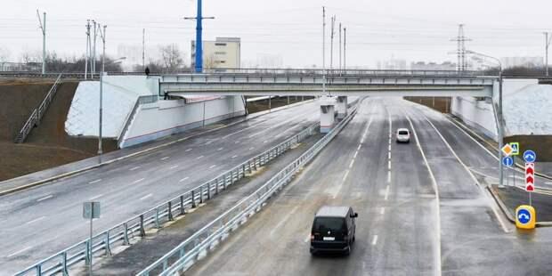 Строительство проходящей через Марьино Южной рокады завершено более чем наполовину