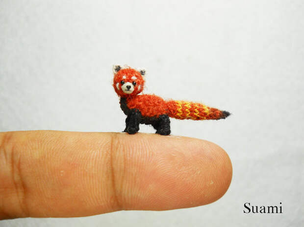 Miniature Red Panda - Micro Crochet Shining-Cat - Made To Order