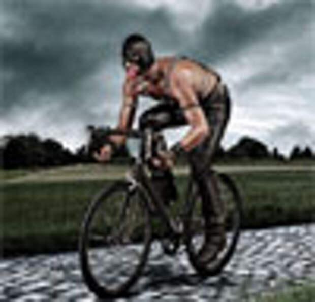 Мазохист-велосипедист в рекламе генитального пластыря