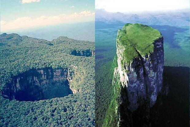 Площадь вершины тепуи Сарисаринама составляет 546,88 км²