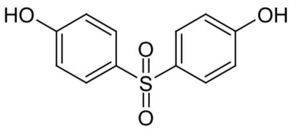 Молекула бисфенола S (иллюстрация Wikimedia Commons).