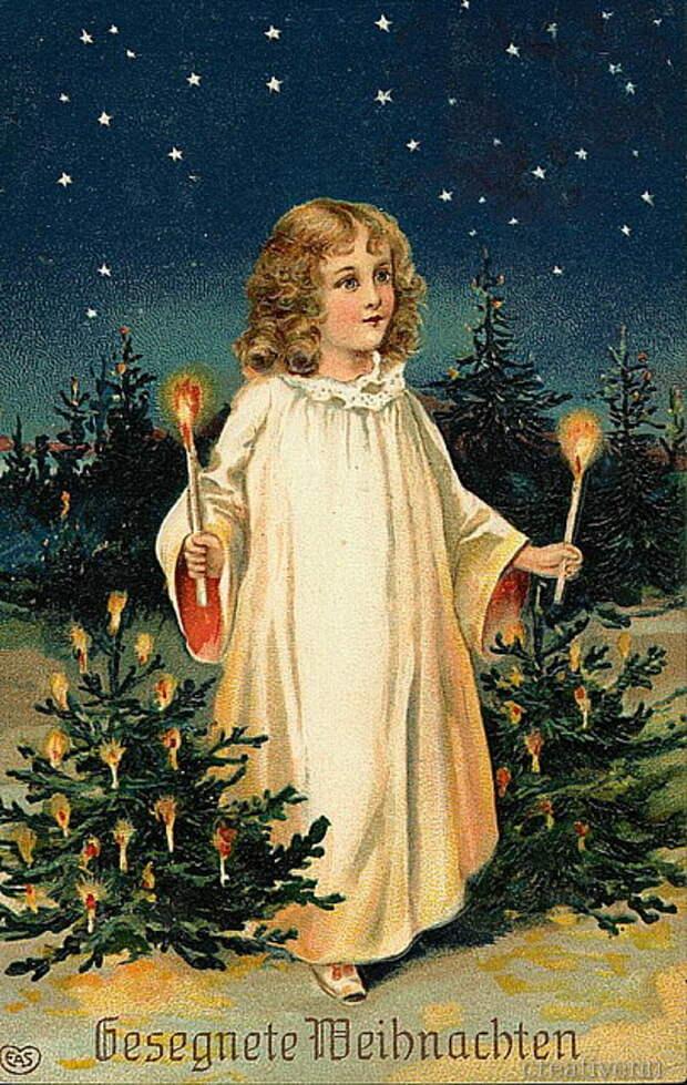 Винтажные Рождественские и Новогодние Открытки разных стран.