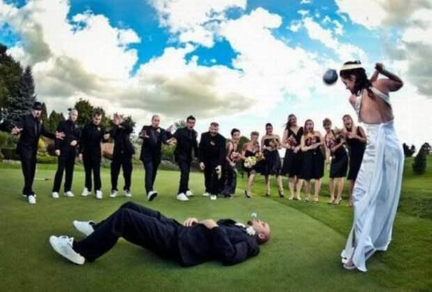 Смешные и прикольные свадебные фотографии