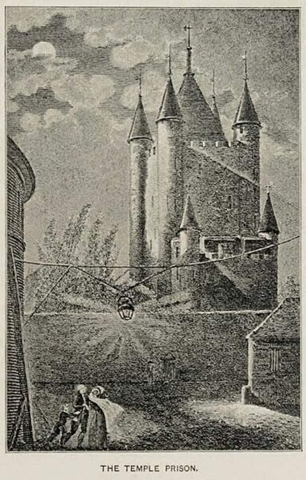 Замок тамплиеров в Париже. Ныне не существует.  С гравюры художника. Фото из открытых источников