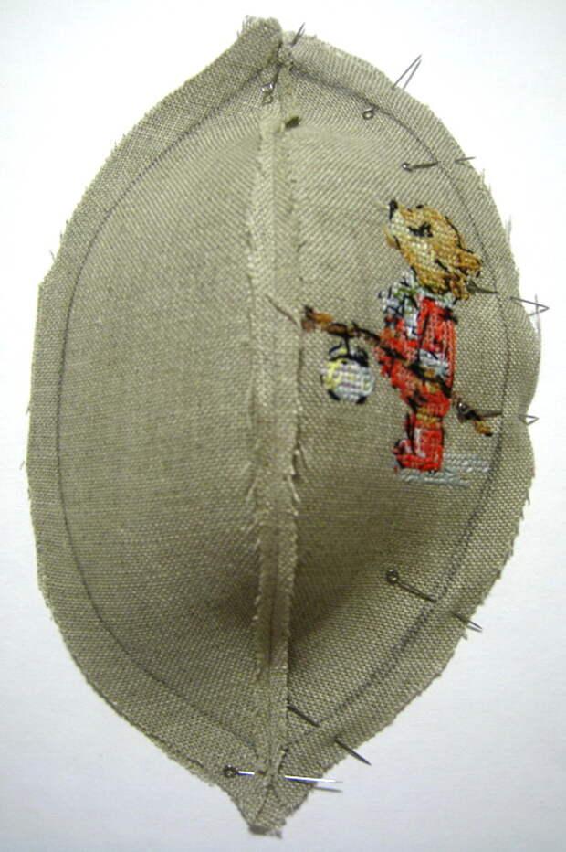 сшиваем сегменты шарика попарно