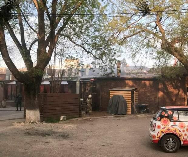 Ресторан горел в центре Симферополя