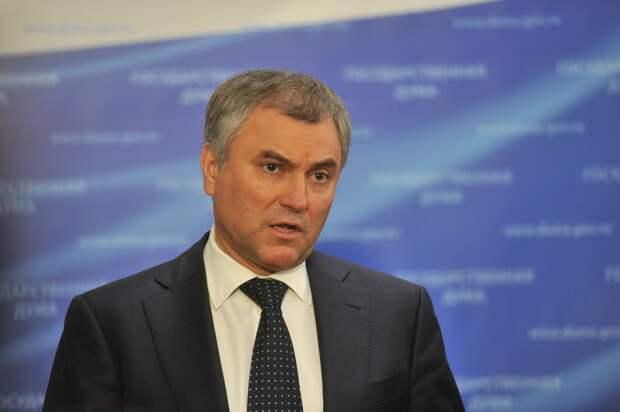 Володин осудил заявление британского посла о борьбе с пандемией