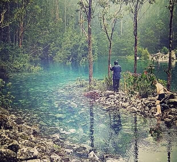 В Тасмании удалось сфотографировать озеро, которое появляется внезапно