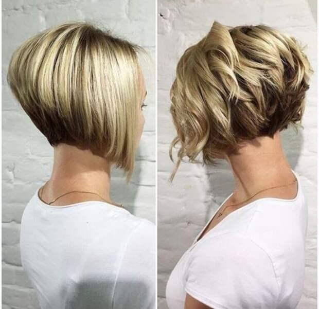 Укладка на короткие волосы с объемом фото 8