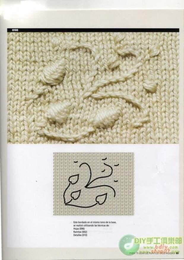 вязаное изделие можно украсить вышивкой.Ниже вы найдете узоры и схемы