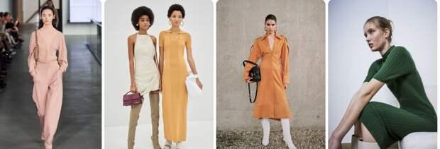 Однотонная роскошь люксовой моды осени 2020