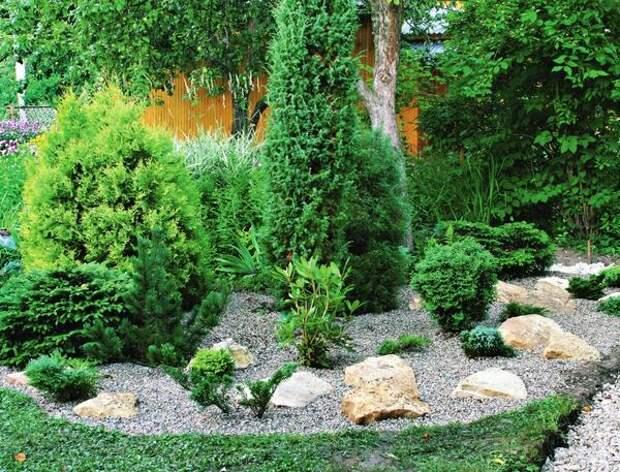 Плоский рокарий — лишь один из возможных и простых в реализации вариантов использования камня на участке.