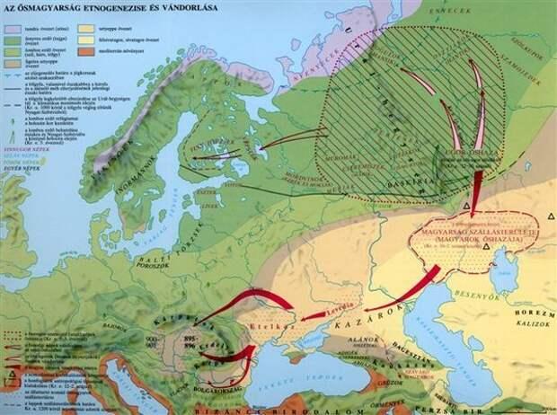 Карта расселения венгров