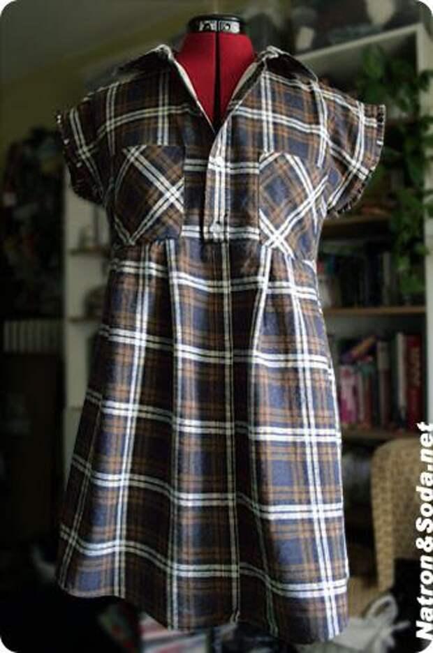 Блузки из мужских рубашек (Diy)