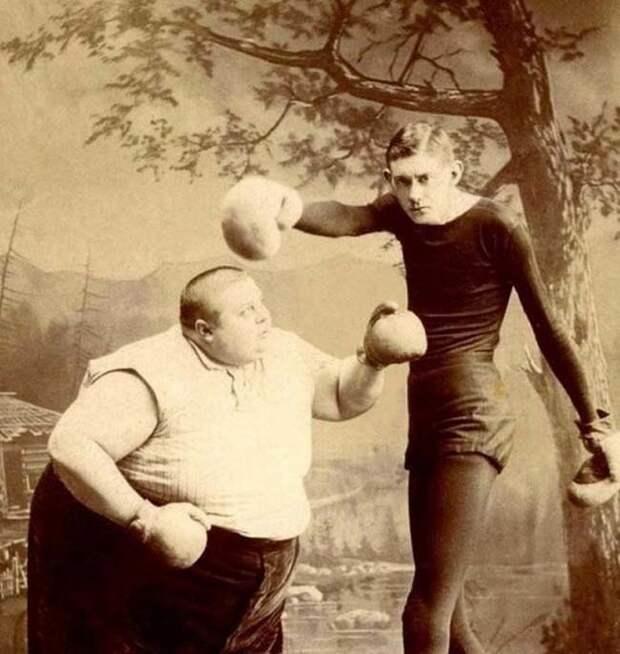 Братья боксёры, которые выступали в качестве клоунов. интересное, прошлое, фото, цирк