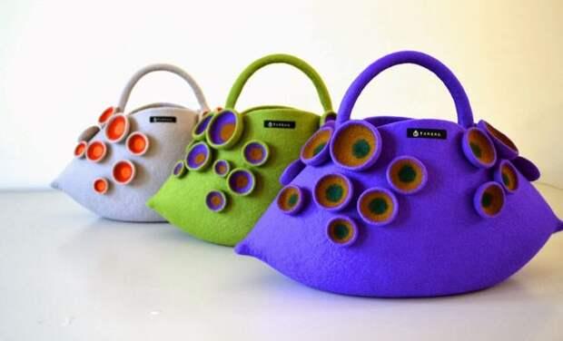 Дизайнерские валяные сумки Атзуко Сазаки