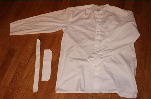 Переделка рубашки в топ (DIY)