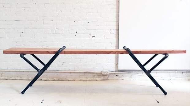Низкий столик из труб и дерева мастер-класс