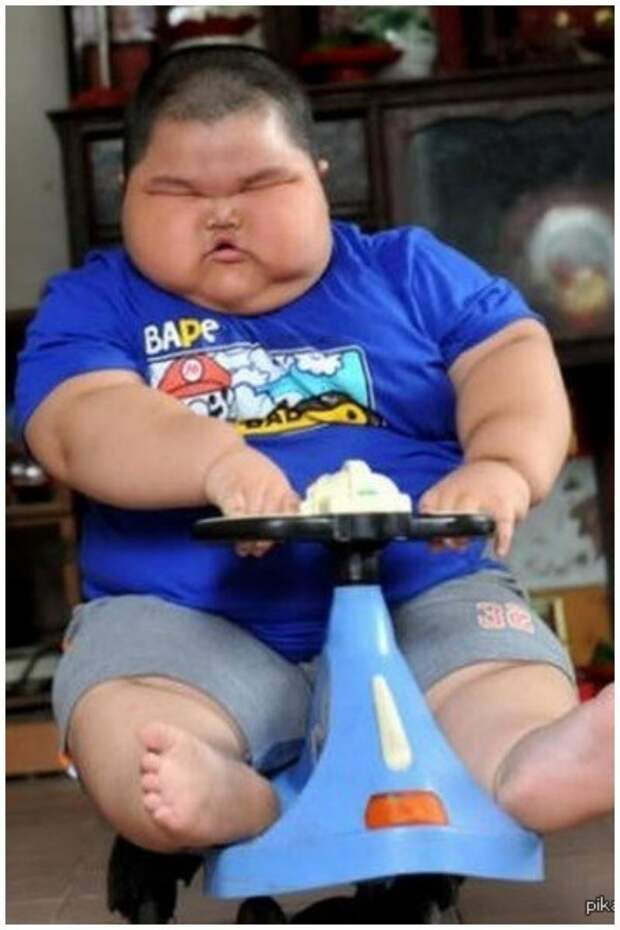 Lu Hao, который в 3 года весил почти 60 кг