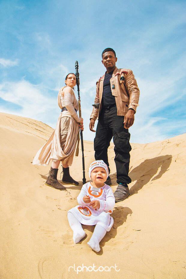 """Семейная пара создала креативную фотосессию в стиле """"Звездных войн"""""""