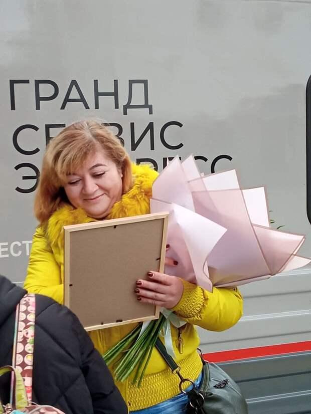 В Симферополе встретили миллионного пассажира, проехавшего по Крымскому мосту на поезде