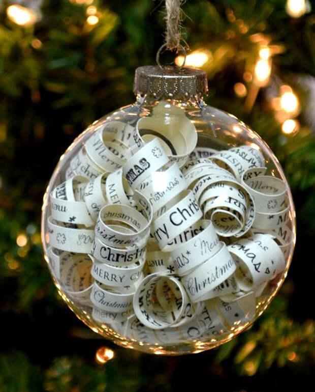 идеи подарков на новый год - елочный шар, наполненный хорошими пожеланиями