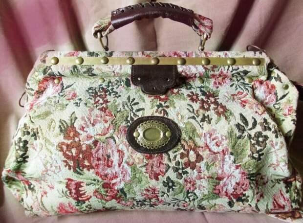 Шьем сумку-саквояж из плотной рубашки