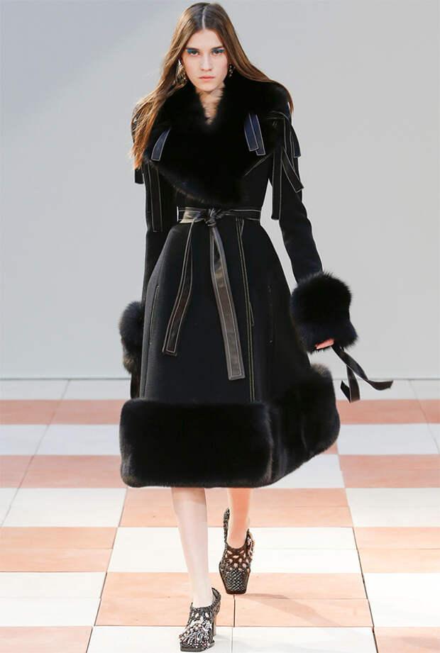 Пальто - дубленка с поясом