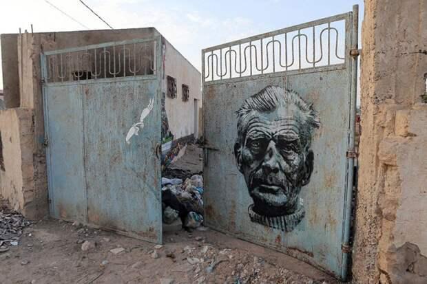 150 уличных художников из 30 стран, превратили старую деревушку Эр-Рияд в Тунисе в настоящую галерею под открытым небом (11)