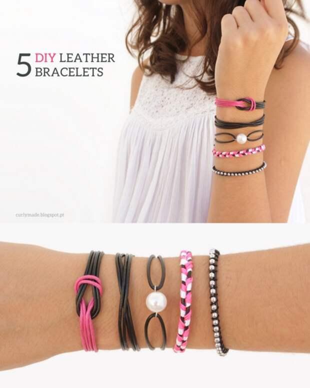 5 различных браслетов (Diy)