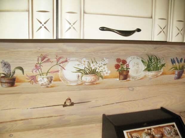 Роспись кухонного фартука своими руками