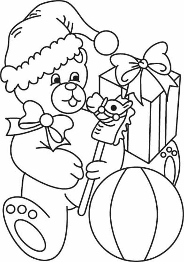 Детский мир. Новогодние раскраски