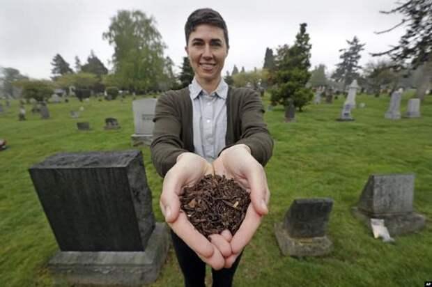 В США предлагают тела умерших людей перерабатывать в компост