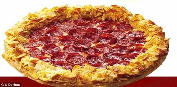 Пицца из кукурузных чипсов