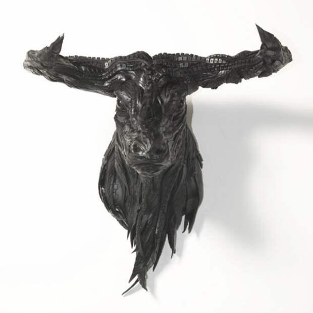 Современная скульптура или поделки из старых шин (15)