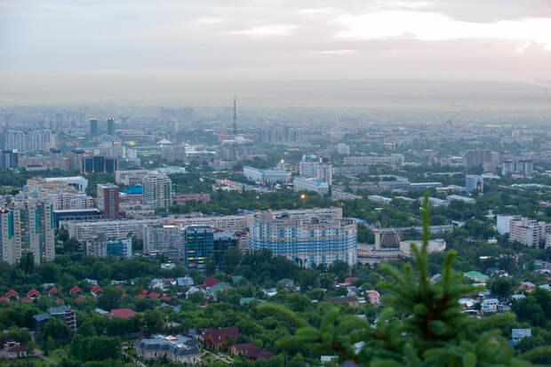 Алма-Ата с обзорной горы! Фото автора статьи.