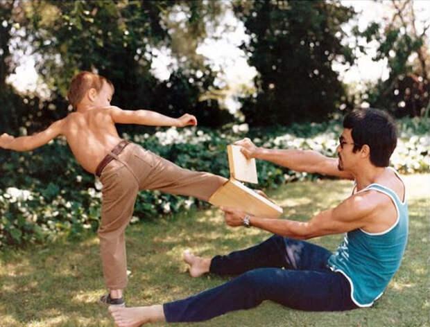 Тренировки с сыном Брэндоном.