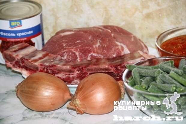 myasnoe ragu s fasoliu tbilissi 01 Мясное рагу с фасолью Тбилиси