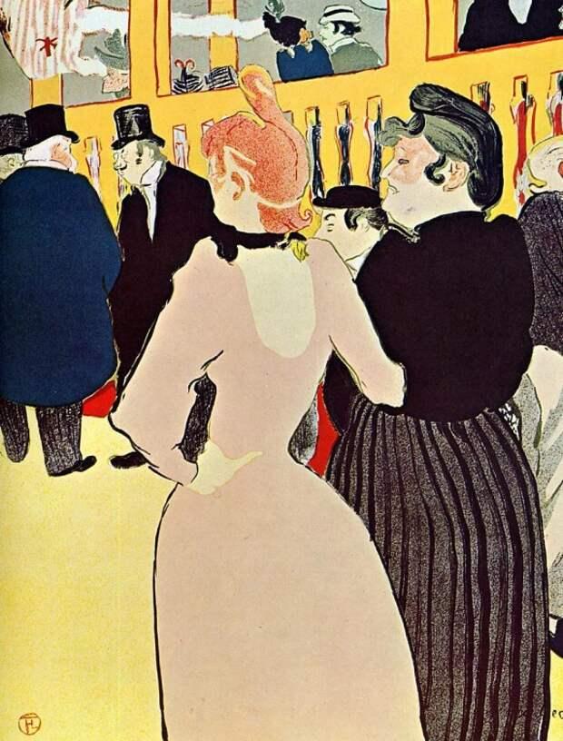В Moulin Rouge, La Гулю с сестрой - Анри де Тулуз-Лотрек