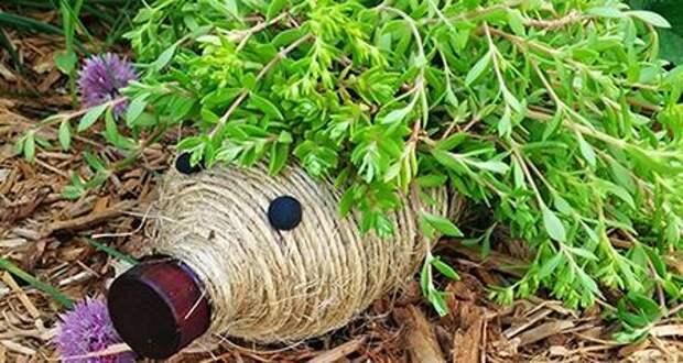 Ёжик из пластиковой бутылки