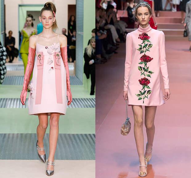 Справа — Prada, слева — Dolce & Gabbana