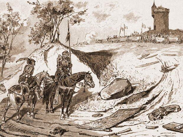 На заднем плане гравюры хорошо виден табор крестьянской армии http://germanhistorydocs.ghi-dc.org - С башмаком на знамени | Военно-исторический портал Warspot.ru